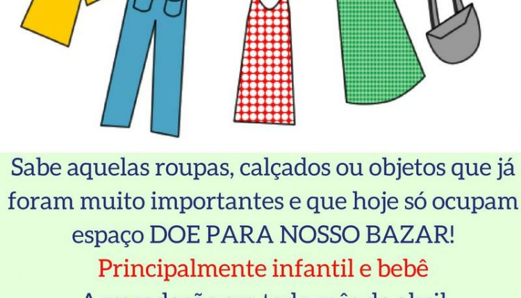 0589853f6 Apae começa arrecadar roupas e demais artigos para seu bazar – Jojô ...