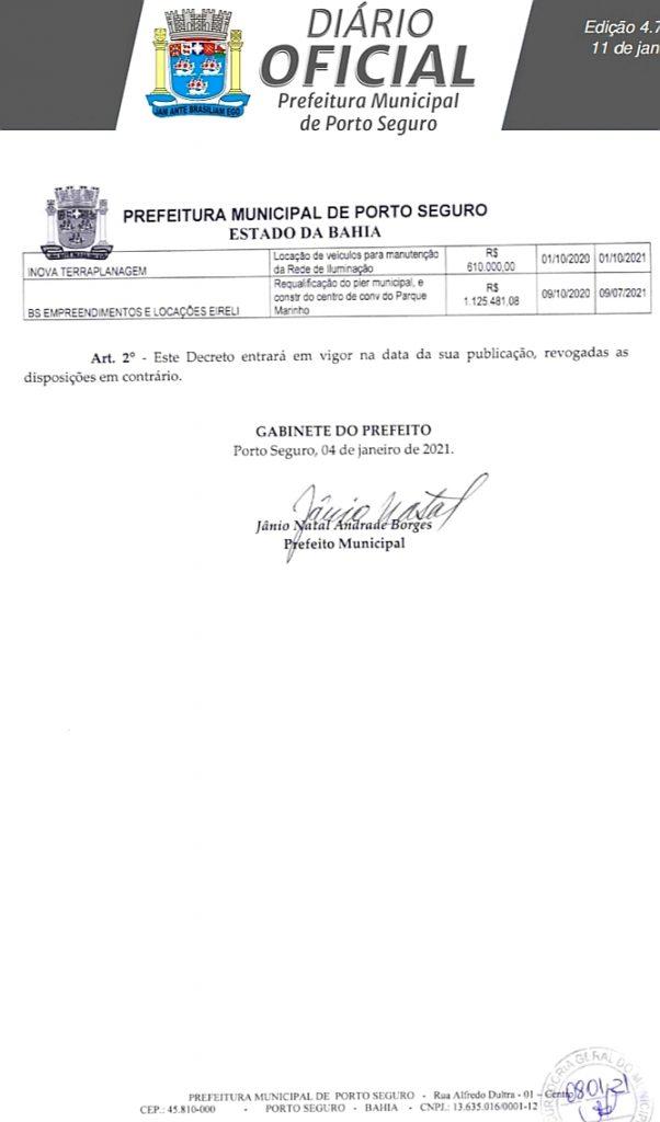 Prefeito Jânio Natal decreta suspensão de contratos, em valores superiores a R$57 milhões, aditivados pela gestão Cláudia Oliveira 30